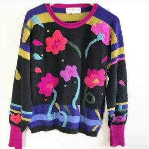 Peruvian Connection| Alpaca floral sweater.